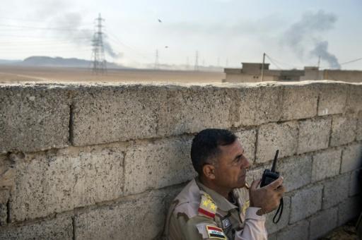 Un officier irakien dans la région d'Ali Rash, proche de Mossoul, le 6 novembre 2016  © Odd ANDERSEN AFP