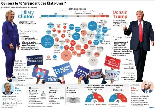 Qui sera le 45e président des Etats-Unis ? © Paz PIZARRO, Thomas SAINT-CRICQ AFP
