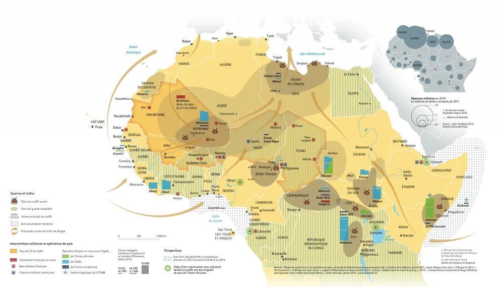 Carte du Sahel. ©  DR