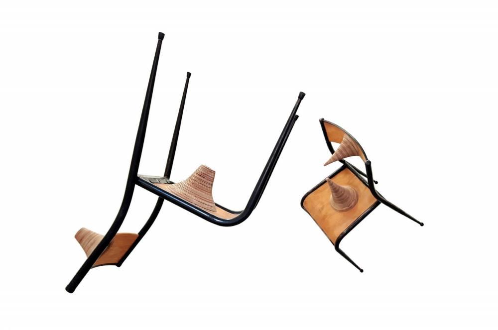 nicolas tourte - couple de chaise, 2016 ©  ADAGP - Nicolas Tourte / Galerie Laure Roynette