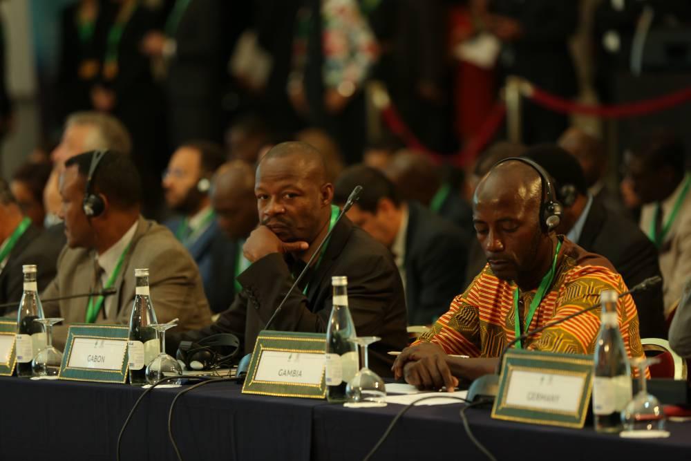 Plusieurs délégations africaines étaient présentes à l'ouverture du pavillon Afrique à la COP 22. ©  shotnmake