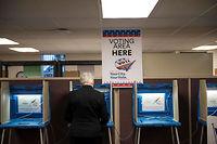 Centre de vote par anticipation dans le centre de Minneapolis, dans le Minnesota.  ©STEPHEN MATUREN