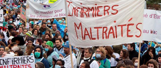 Des milliers d'infirmiers ont manifesté dans toute la France, mardi 8 novembre 2016