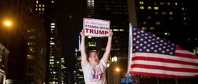 Partisan de Donald Trump à New York.