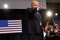Donald Trump a envoyé au tapis pas moins de 16 candidats républicains aux primaires et a terminé en administrant une gifle monumentale à Hillary Clinton. ©MANDEL NGAN