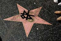 L'étoile taguée de Donald Trump sur le Hollywood Walk of Fame