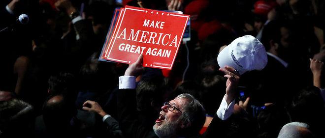 Un partisan de Donald Trump. Le slogan du républicain promettait de rendre à l'Amérique sa grandeur passée.