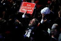 Un partisan de Donald Trump. Le slogan du républicain promettait de rendre à l'Amérique sa grandeur passée. ©© Jonathan Ernst / Reuters