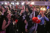 Pour Michel Schneider, le 8 novembre, «la moitié des électeurs américains lance à l'autre et au monde : je vous emmerde». ©© Carlo Allegri / Reuters