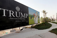 Le Trump International Golf Club de Dubai, aux Émirats arabes unis.   ©KARIM SAHIB