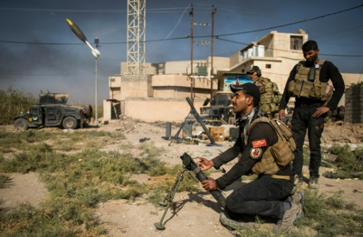 Des soldats irakiens le 11 novembre 2016 à Samah dans la banlieue est de Mossoul © Odd ANDERSEN AFP