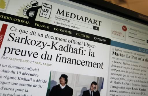 Le site de Mediapart le 28 avril 2012  © KENZO TRIBOUILLARD AFP/Archives