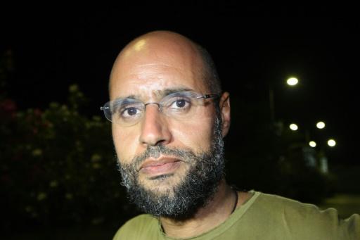 L'un des fils de Kadhafi, Seif al-Islam, le 23 août 2011 à Tripoli  © IMED LAMLOUM AFP/Archives