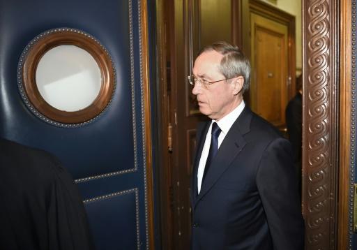Claude Guéant à son arrivée au palais de justice le 28 septembre 2016 à Paris © ERIC FEFERBERG AFP/Archives