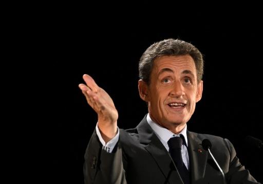 Nicolas Sarkozy, lors d'un meeting à Neuilly, le 7 novembre 2016 © ERIC FEFERBERG AFP