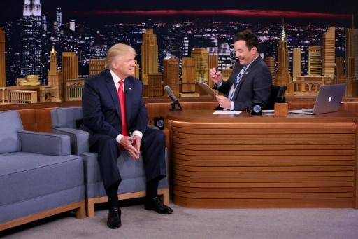 Cette photo fournie par NBC THE TONIGHT SHOW montre Donald Trump lors d'un interview avec Jimmy Fallon, le 15 septembre 2016 à New York © Andrew Lipovsky Episodic/AFP