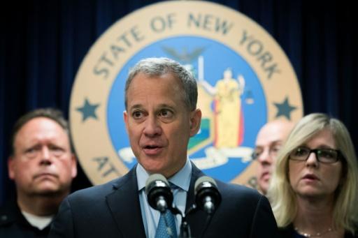 A New York, le procureur général de l'Etat, Eric Schneiderman, le 23 septembre 2016 © Drew Angerer GETTY IMAGES NORTH AMERICA/AFP