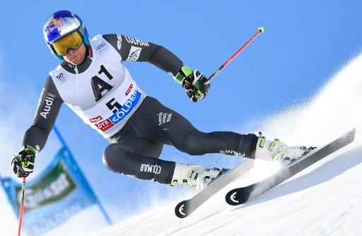 Alexis Pinturault, lors de la 1re manche du slalom géant de Sölden (Autriche), le 23 octobre 2016  © JOE KLAMAR AFP/Archives