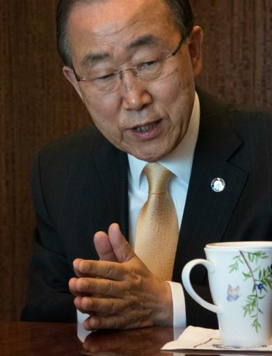 Le secrétaire général de l'ONU Ban Ki-moon, le 11 novembre 2016 à New York  © DON EMMERT AFP