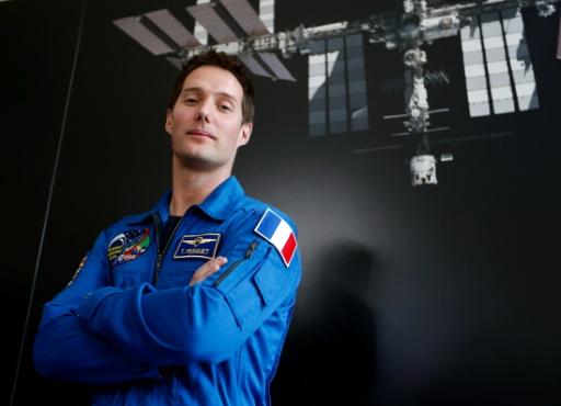 L'astronaute français Thomas Pesquet le 17 mars 2014 à Paris © FRANCOIS GUILLOT AFP/Archives