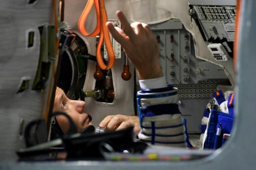 L'astronaute français Thomas Pesquet lors d'un entraînement au centre spatial Gararine le 25 octobre 2016 près de Moscou  © Kirill KUDRYAVTSEV AFP