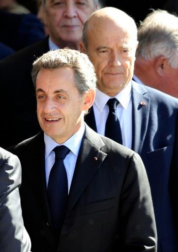 Nicolas Sarkozy et Alain Juppé le 15 octobre 2016 à Nice  © VALERY HACHE AFP/Archives