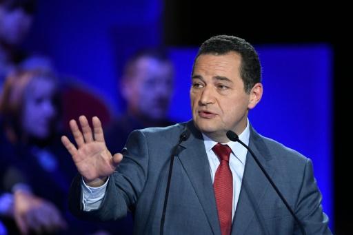 Jean-Frédéric Poisson lors du second débat télévisé le 3 novembre 2016 salle Wagram à Paris © Eric FEFERBERG POOL/AFP/Archives