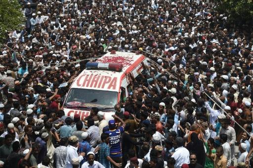 Funérailles du musicien soufi Amjad Sabri à Karachi, le 23 juin 2016 © ASIF HASSAN AFP
