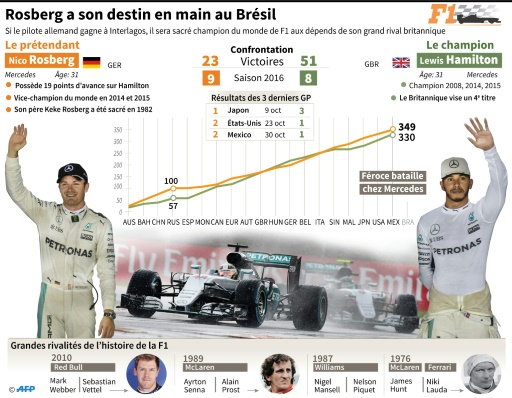 Rosberg-Hamilton, une saison de rivalité © Sébastien CASTERAN AFP