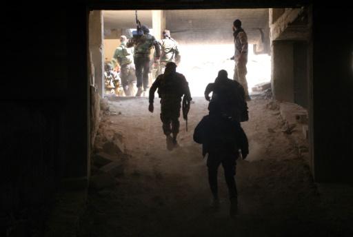 Des rebelles des brigades Jaish al-Fatah, le 3 novembre 2016, à une entrée d'Alep © Omar haj kadour AFP/Archives