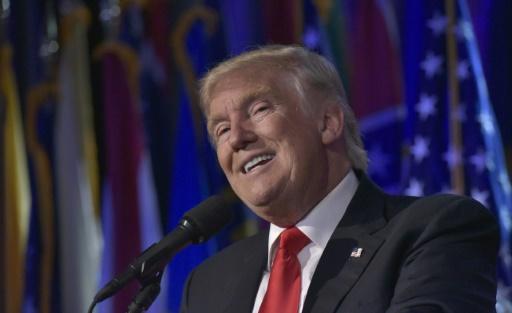 Donald Trump le 9 novembre 2016 au Hilton Midtown à New York © MANDEL NGAN AFP/Archives
