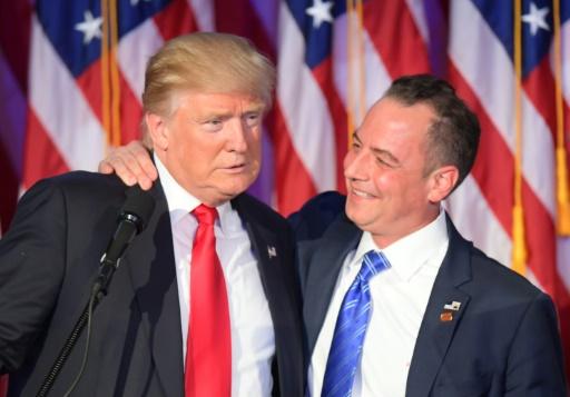 Donald Trump et Reince Priebus le 9 novembre 2016 à New York © JIM WATSON  AFP/Archives
