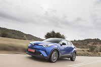 Le Toyota C-HR définitif est resté très fidèle au concept dont il dérive sur le plan esthétique. ©T.Antoine/ACE Team