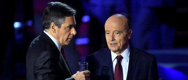 Pour la première fois, le baromètre Ipsos enregistre une égalité  parfaite entre Alain Juppé et François Fillon (+2points), avec 67% de  bonnes opinions auprès des sympathisants LR.
