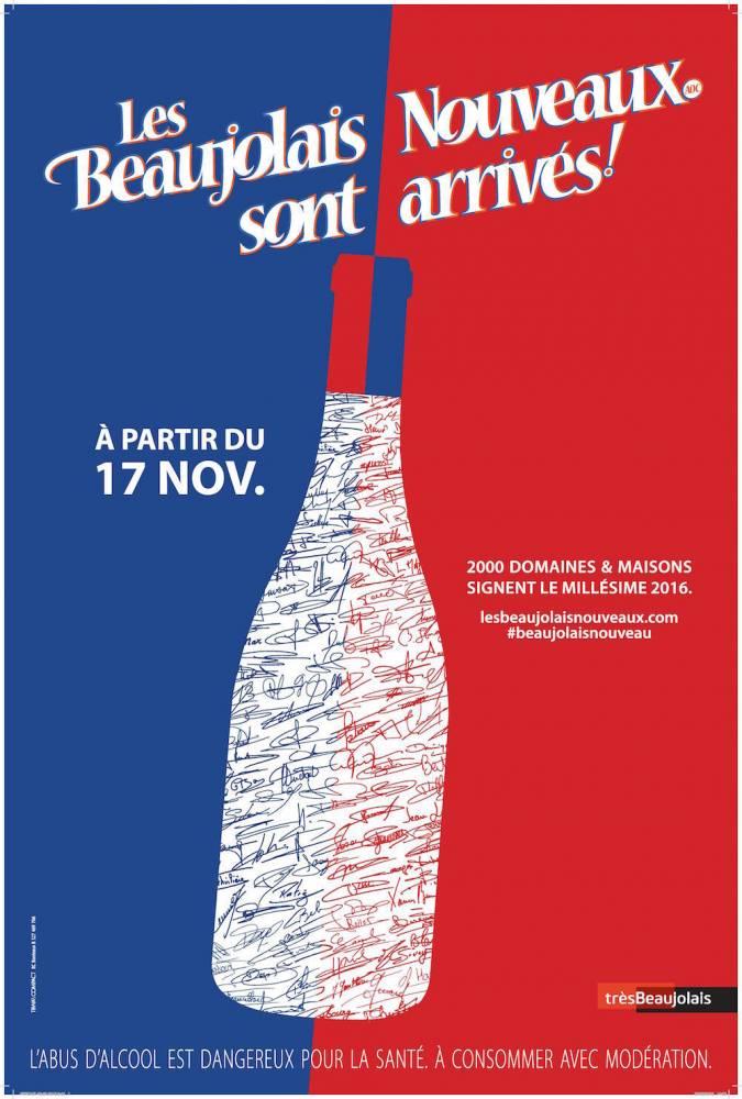 Affiche du Beaujolais nouveau 2016.