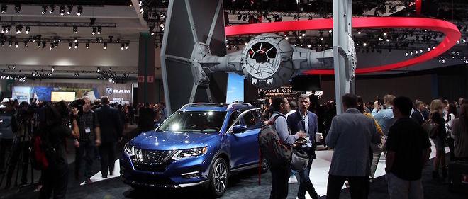 Pour mieux faire parler de lui, le Rogue de Nissan a convoqué les héros de George Lucas et de la Guerre des étoiles sur le stand. Hollywood oblige !