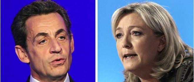 """Nicolas Sarkozy et Marine Le Pen ont fait de la """"majorité silencieuse"""" leur fonds de commerce."""