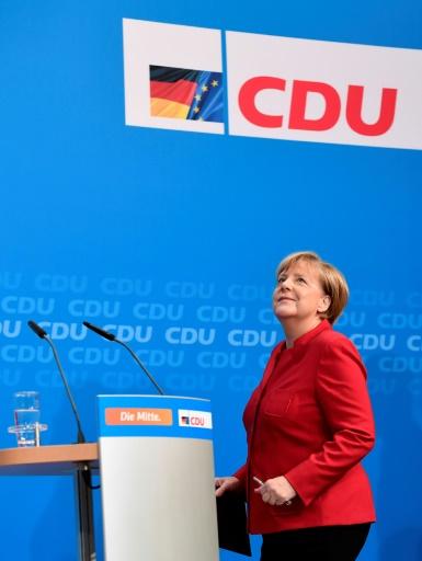 Angela Merkel, le 20 novembre 2016 à Berlin  © TOBIAS SCHWARZ AFP