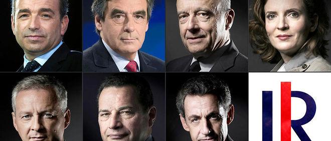 Les candidats de la primaire de la droite.
