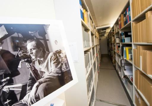 Les archives des films du cinéaste suédois Ingmar Bergman à Stockholm, le 8 novembre 2016 © JONATHAN NACKSTRAND AFP/Archives