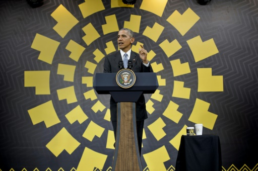 Le président américain Barack Obama à Lima, le 20 novembre 2016 © Brendan Smialowski AFP