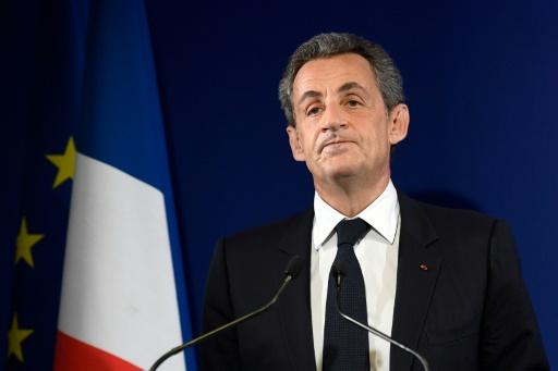 Nicolas Sarkozy annonce son retrait de la vie politique, le 20 novembre 2016 à Paris © Eric FEFERBERG POOL/AFP