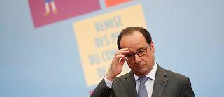 François Hollande n'a pas évoqué sa succession et n'a pas eu un mot sur Manuel Valls. ©GONZALO FUENTES
