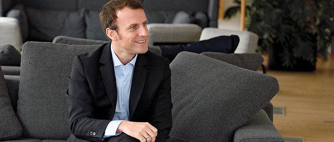 Manifeste. Emmanuel Macron photographié dans les bureaux du Point dimanche 20novembre.