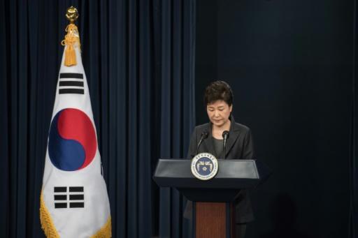 La présidente sud-coréenne Park Geun-Hye s'adresse à la nation, le 4 novembre 2016 à Séoul © Ed JONES, Ed Jones POOL/AFP