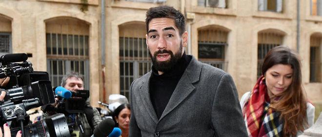 e87b64cfb5711 Nikola Karabatic et sa compagne Geraldine Pillet a leur arrivee au proces  le 21 novembre.