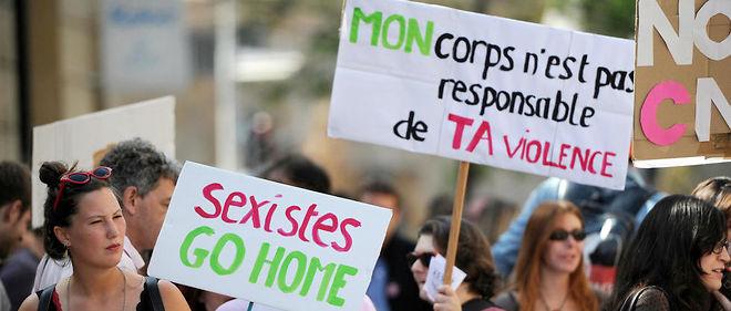 Manifestation contre les violences faites aux femmes le 6 octobre 2012 à Aix-en-Provence.