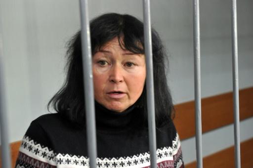 Galina Kovalenko, professeure d'ukrainien et de littérature, le 23 novembre 2016 à Kharkiv dans l'est de l'Ukraine © SERGEY BOBOK AFP