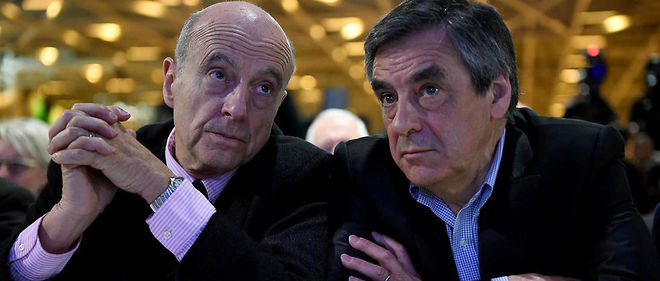 Alain Juppé et François Fillon au conseil national du parti Les Républicains le 13 février 2016.