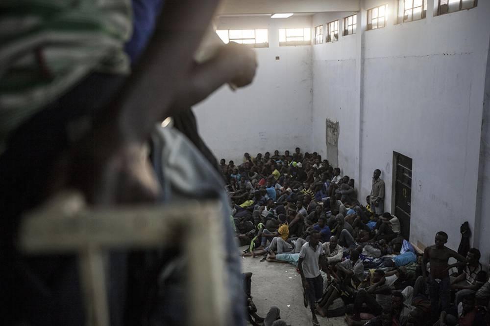 Le centre de détention de Zawiyah, Libye. ©  Narciso Contreras pour la Fondation Carmignac